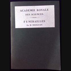 1. Académie royale des sciences - Funérailles de M. Bréguet