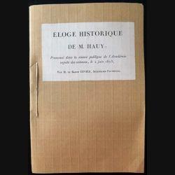 1. Éloge historique de M. Hauy prononcé dans la séance publique de l'Académie royale des sciences, le 2 juin 1823