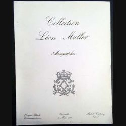 1. Collection Léon Muller autographes