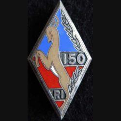 150° RI : 150° régiment d'infanterie Drago Béranger embouti en émail