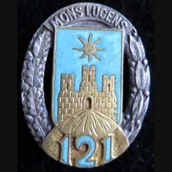 121° RI : 121° régiment d'infanterie Drago Paris G. 430 en émail dos guilloché