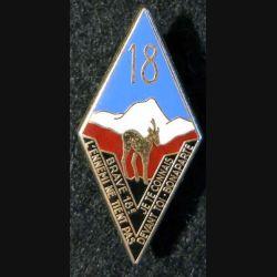 18° RID : 18° régiment d'infanterie divisionnaire Delsart Sens dos lisse
