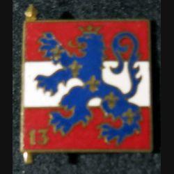 13° DI : 13° division d'infanterie de fabrication Drago Paris G. 1303 en émail