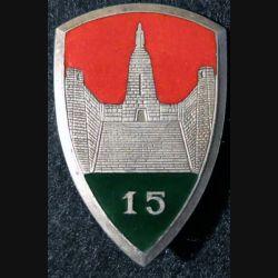 XV° BM :XV° brigade motorisée (chiffre 15) Arthus Bertrand G. 2158   émail