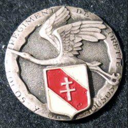 """158° RI : 158° régiment d'infanterie """"régiment de Lorette"""" plat embouti argenté peint"""