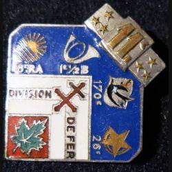 """11° DI : 11° division d'infanterie """"division de fer"""" 1939-1940 Arhus Bertrand en émail"""