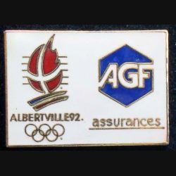 Pin's JO : pin's des jeux Olympiques d'hiver Albertville 92 AGF Assurances  en émail