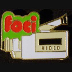 Pin's FOCI : pin's FOCI Vidéo 4,8 cm x 2,6 cm de fabrication Loco Motiv
