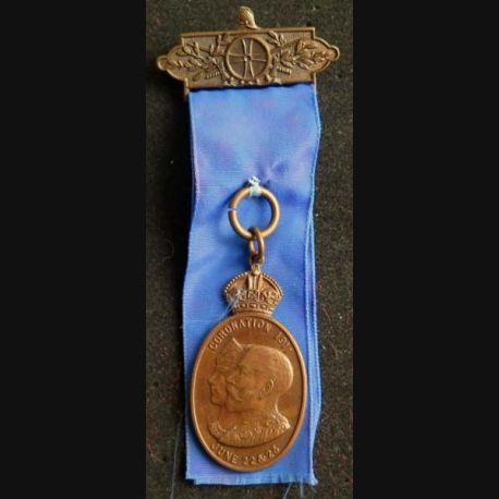 GRANDE BRETAGNE : Médaille du Couronnement du roi d'Angleterre Georges 5 et de la reine Mary du 22 et 23 juin 1911 en bronze
