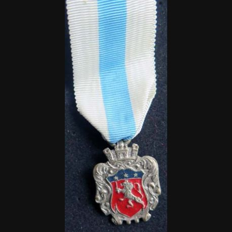 FRANCE :  médaille de la ville de Lyon en métal argenté