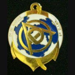 2° RIMA : insigne métallique du 2° régiment d'infanterie de marine RIMA DAO 9° DIMA de fabrication AB Paris