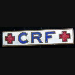 BARRETTE : barrette émaillée de la croix rouge française en émail
