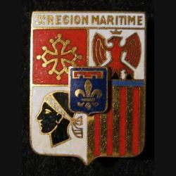 3° RM : 3° région maritime de fabrication Drago Paris guilloché doré
