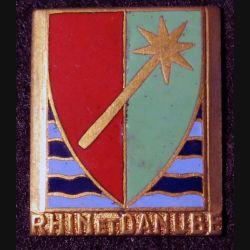 1° Armée : 1° armée française Rhin et Danube Drago Béranger en émail