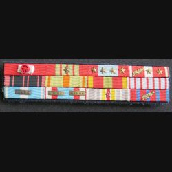 Barrette de 12 décorations du Colonel K. Chef de Corps du 2° REI 1965 - 1967