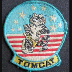 US PATCH : vieil insigne tissu des F14 de l'aviation TOM CAT patch de dimension 9 x 8,5 cm
