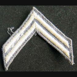 GB PATCH : galon de caporal chef de l'armée britannique fil blanc sur fond vert