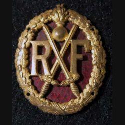 BREVET: Insigne métallique du brevet de chef de section d'infanterie type 1 fond en émail 43 mm