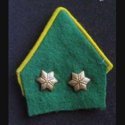 COL BELGE : insigne de col tissu et métallique de lieutenant belge