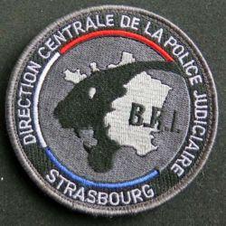 DCPJ BRI : Insigne tissu de la direction centrale de la police judiciaire brigade de recherche et d'investigatuion de Strasbourg