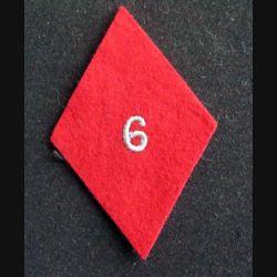 losange de bras modèle 45 : insigne tissu du 6° régiment médical troupe