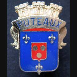 POLICE : insigne métallique de casquette de police de Puteaux de fabrication Ballard (6)