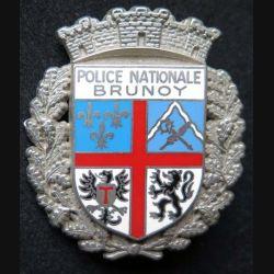 POLICE : insigne métallique de la police nationale de Brunoy de fabrication Ballard (6)