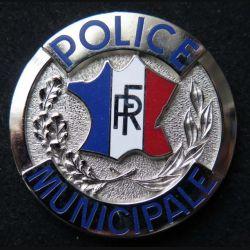 POLICE : insigne métallique de la police municipale pour porte insigne (6)