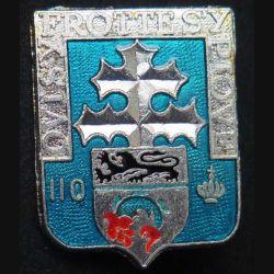 110° RI : 110° Régiment d'infanterie Ballard H. 114 finition argent translucide avec poinçon (13)