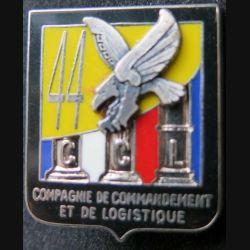 44° RT : insigne métallique de la CCL compagnie de commandement et de logistique du 44° régiment de transmission de fabrication Ballard