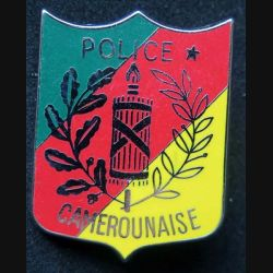 POLICE : insigne métallique de la police camerounaise de fabrication made in France