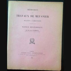1. Mémoires et travaux de Meusnier relatifs à l'aérostation de M. Gaston Darboux aux éditions Gauthier-Villars 1910