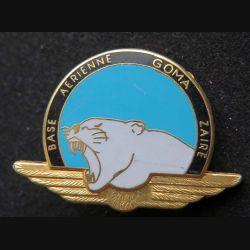 AIR : insigne de la base aérienne GOMA au Zaïre opération Turquoise de fabrication Ballard