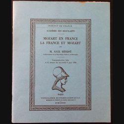 1. Mozart en France La France et Mozart de M. Axel Herbst aux éditions Typographie de Firmin-Didot