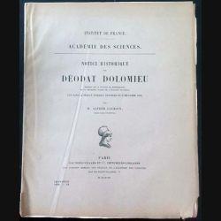 1. Notice historique sur Déodat Dolomieu aux éditions Gauthier-Villars et Cie