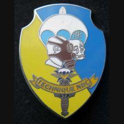 1° RCP : insigne de la section Technique NBC nucléaire biologique et chimique du 1° régiment de chasseurs parachutistes de fabrication Ballard