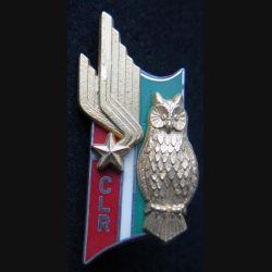 1° RI : insigne métallique de la 4° CLR compagnie légère de renseignements du 1° régiment d'infanterie de fabrication Ballard hibou et ailes dorées