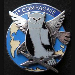 44° RT : 1° compagnie du 44° régiment de transmission de fabrication Ballard aigle et chouette en relief
