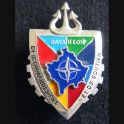 TRAIN : insigne du bataillon de commandement et de soutien  Trident Kosovo Sheli
