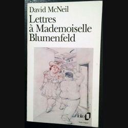1. Lettres à Mademoiselle Blumenfeld de David McNeil aux éditions Gallimard