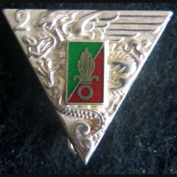 2° régiment étranger de parachutistes Boussemart argenté en émail