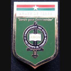 CECF BF : insigne métallique du commandement des écoles et des centres de formation de l'Armée de terre du Burkina Faso