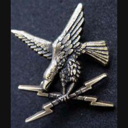 GE : Insigne métallique de brevet bronze de guerre électronique de fabrication Ballard