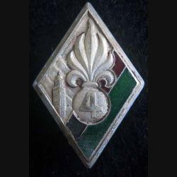 4° Régiment étranger d'infanterie Drago Romainville argenté éclat d'émail partie rouge