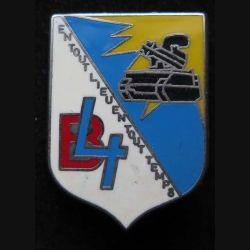 57° RA : insigne métallique de la 4° batterie du 57° régiment d'artillerie fabriqué par Ballard
