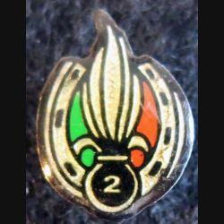 2° REI : pin's métallique du 2° régiment étranger d'infanterie