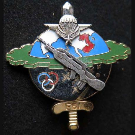 1° RTP : Insigne de l'escadron de base et d'instruction EBI du 1° régiment du train parachutiste de fabrication Ballard