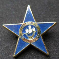 43° RICCA : insigne métallique de la section d'éclaireurs skieurs SES du 43° régiment d'infanterie et de commandement de corps d'armée RICCA de fabrication Ballard