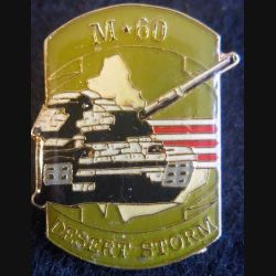DESERT STORM : pin's métallique du M 60 Patton de fabrication Sesa