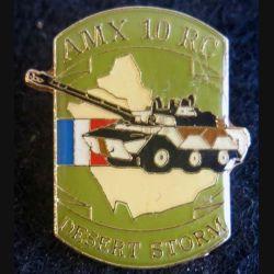 DESERT STORM : pin's métallique du char AMX 10 RC de fabrication Sesa